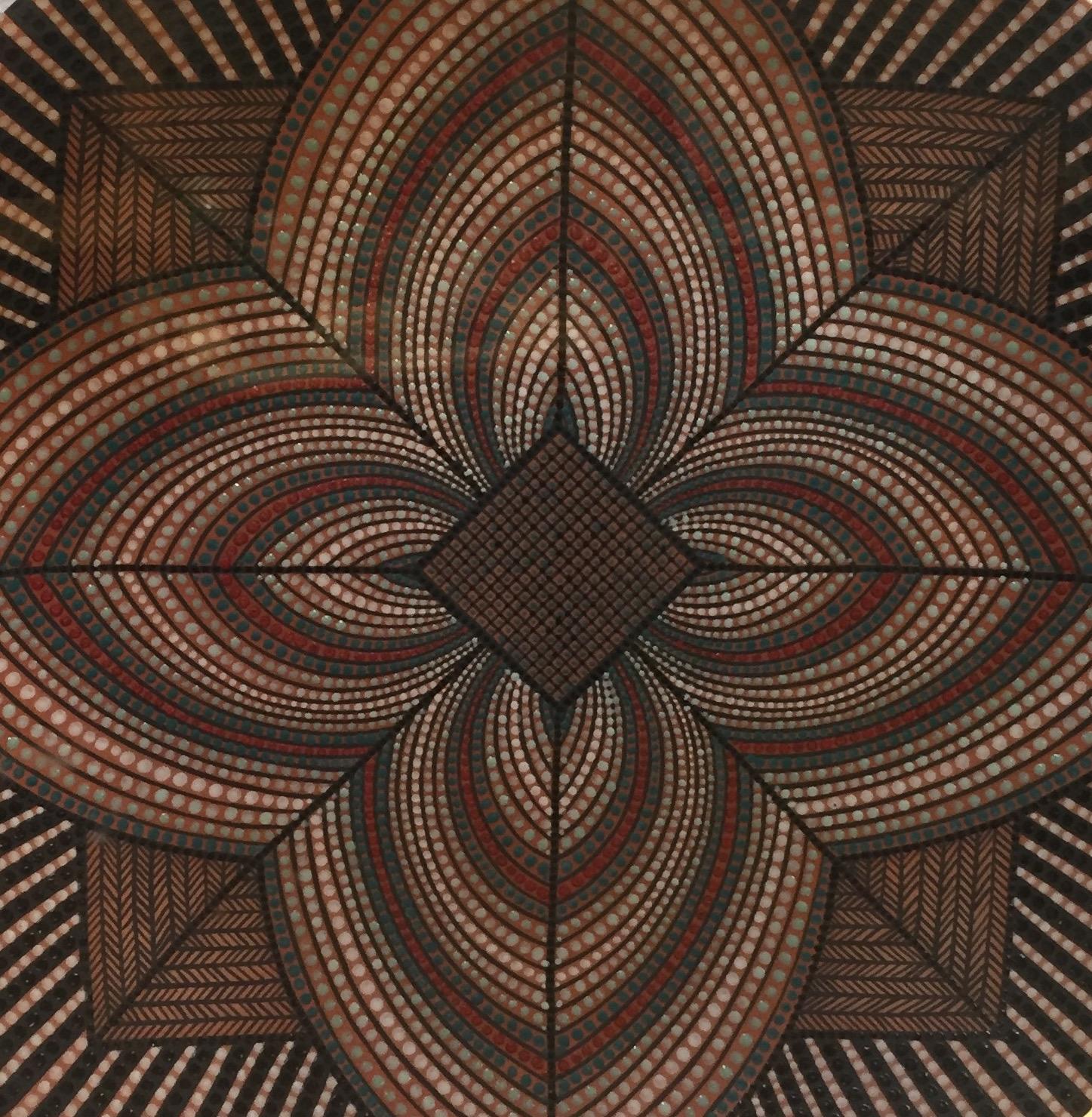PATTERNS IN FIBER & CLAY EXHIBITION - FCAM Ceramic Art Detail - BY RICKY MALODANO