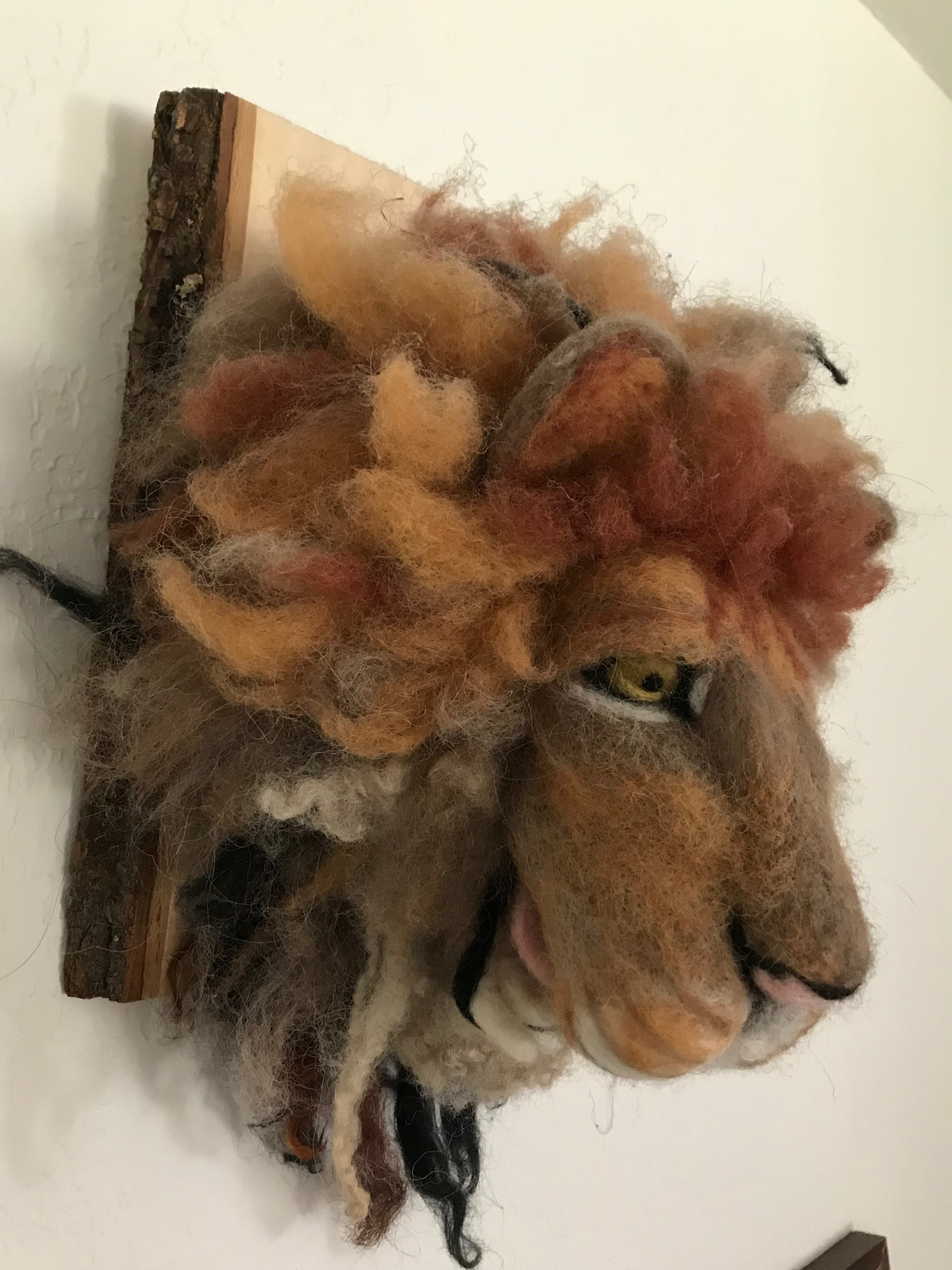 Felted Lion Mask By Allison McCann-Bischoffgerger
