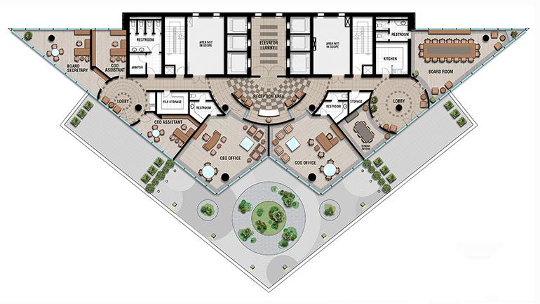 Executive Offices Floorplan