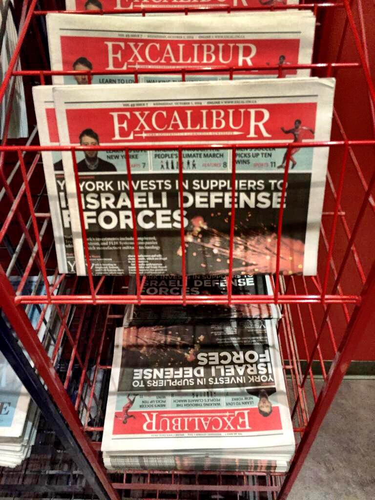 Excalibur's investigative journalism helped spread the word.