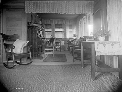 Interior, Firland tent cabin