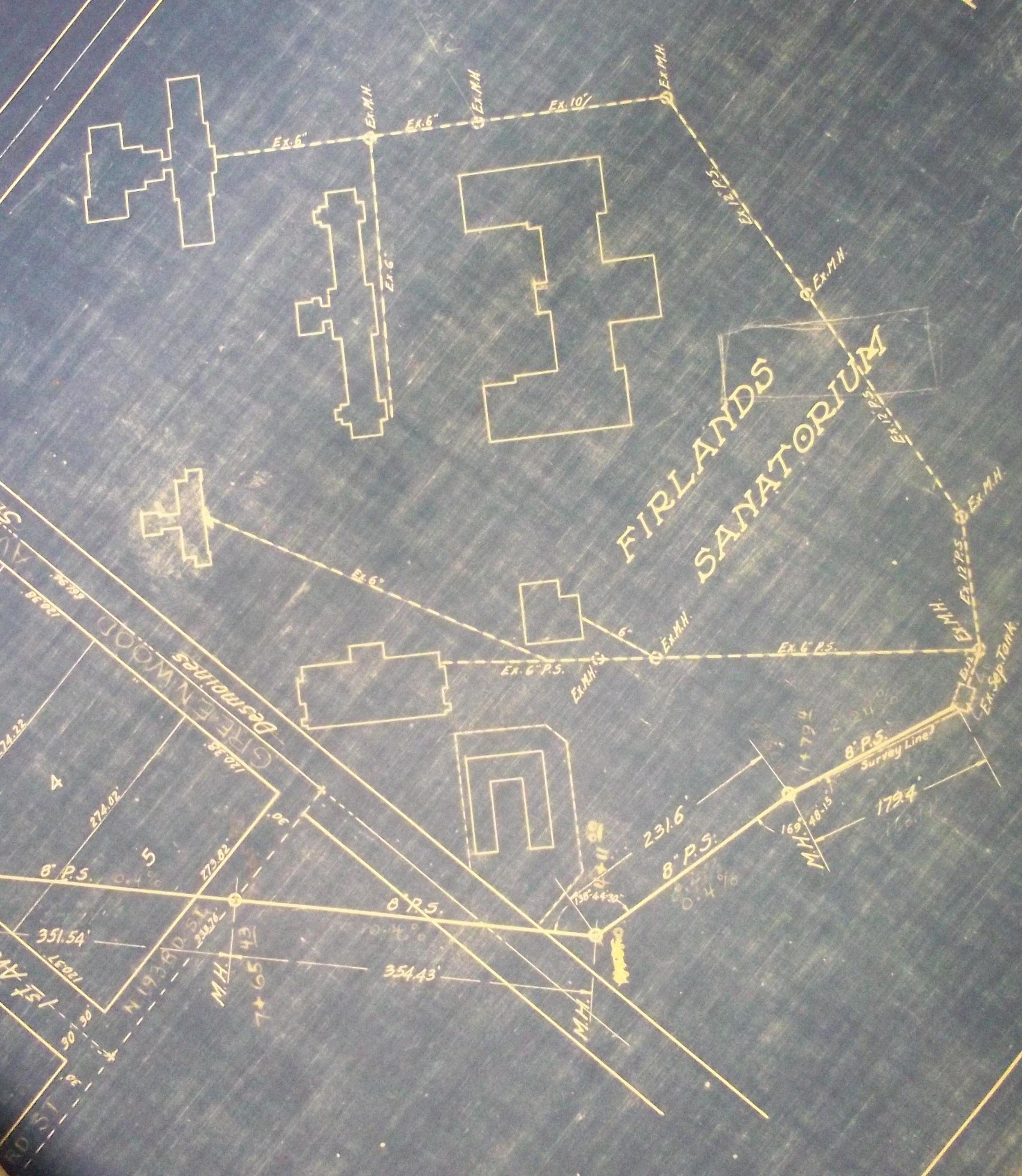 Blueprint of Firland Sanatorium