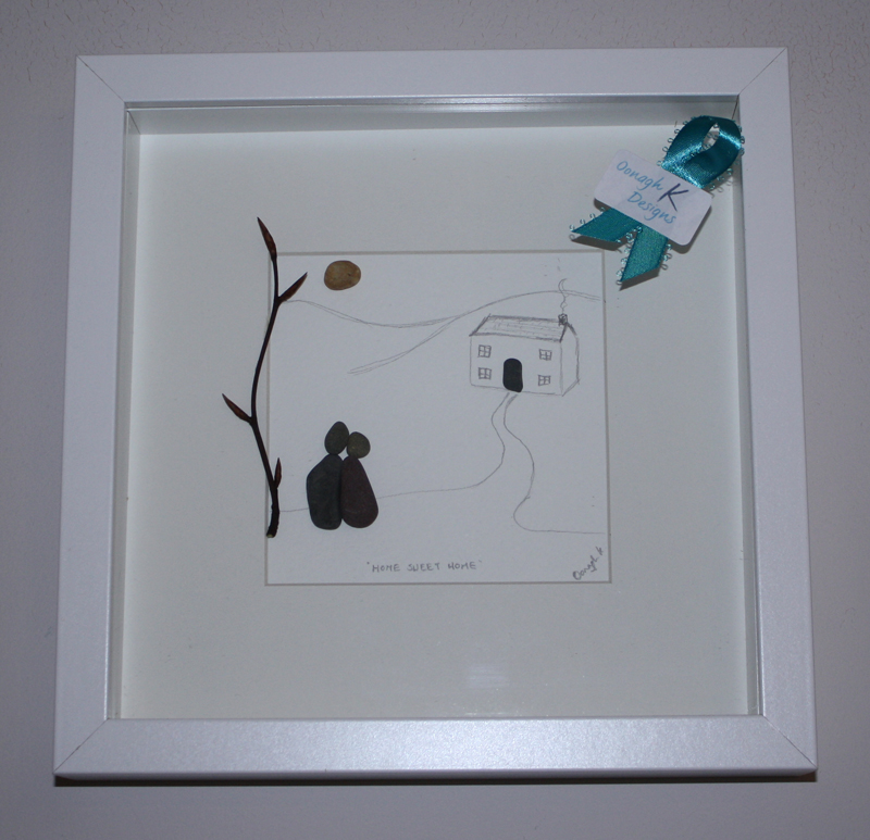 Home Sweet Home - the perfect pebble art House warming gift