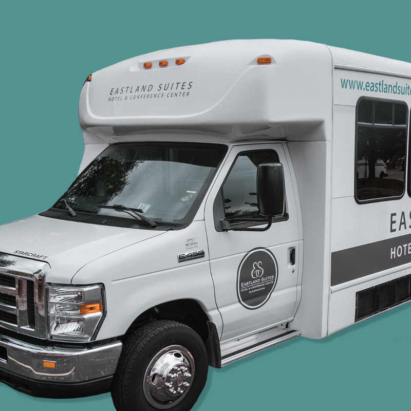Shuttle bus available for weddings at Eastland Suites Bloomington, IL.jpg
