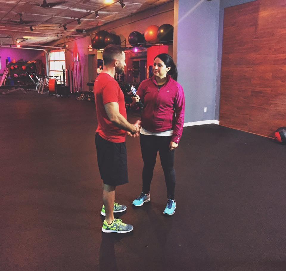 Tania Ortega interviewing owner Cody Butler