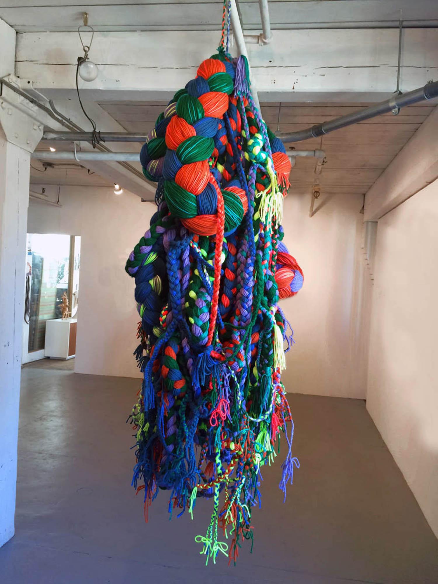 Diffuser, 2014, Yarn, 2.5' x 2' x 5'
