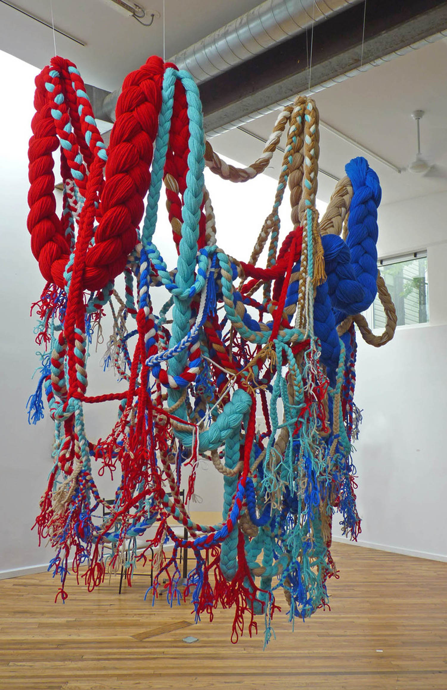 Historical Nostalgia, 2012, Acrylic yarn, 6' x 7' x 8' (Installation)