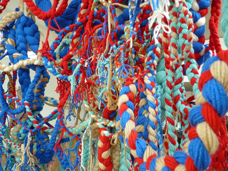 Historical Nostalgia, 2012, Acrylic yarn, 6' x 7' x 8' (Detail)