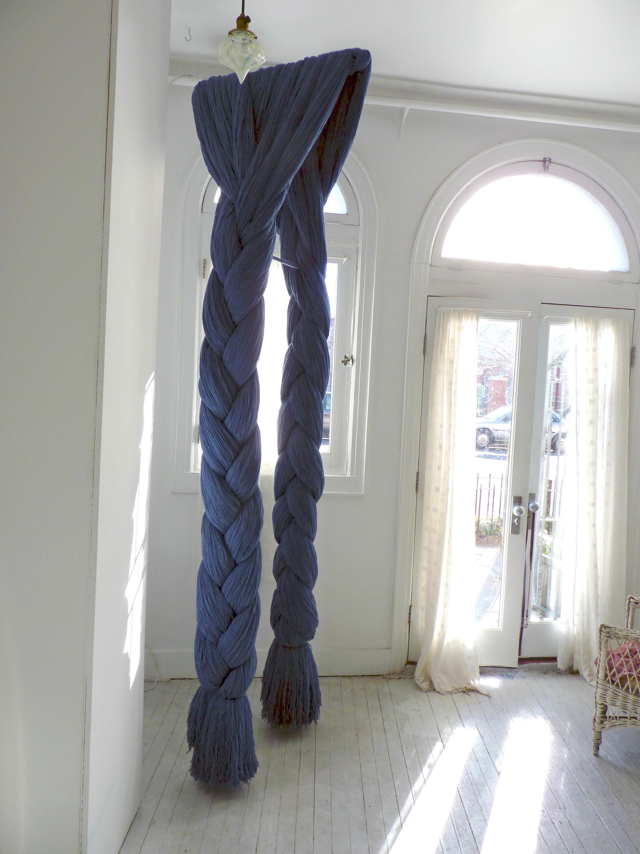 Laura, 2005-11, Acrylic Yarn, hardware, 3 x 4 x 9 feet