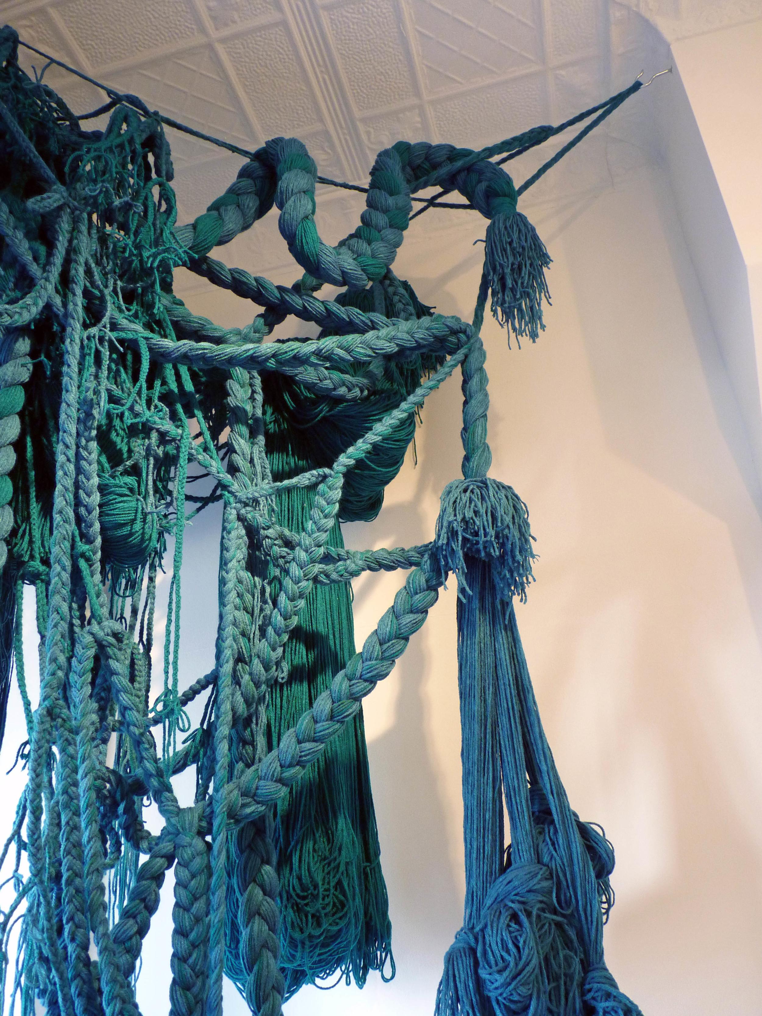 The Falls, 2010, Acrylic yarn, 5' x 3' x 9' (Detail)