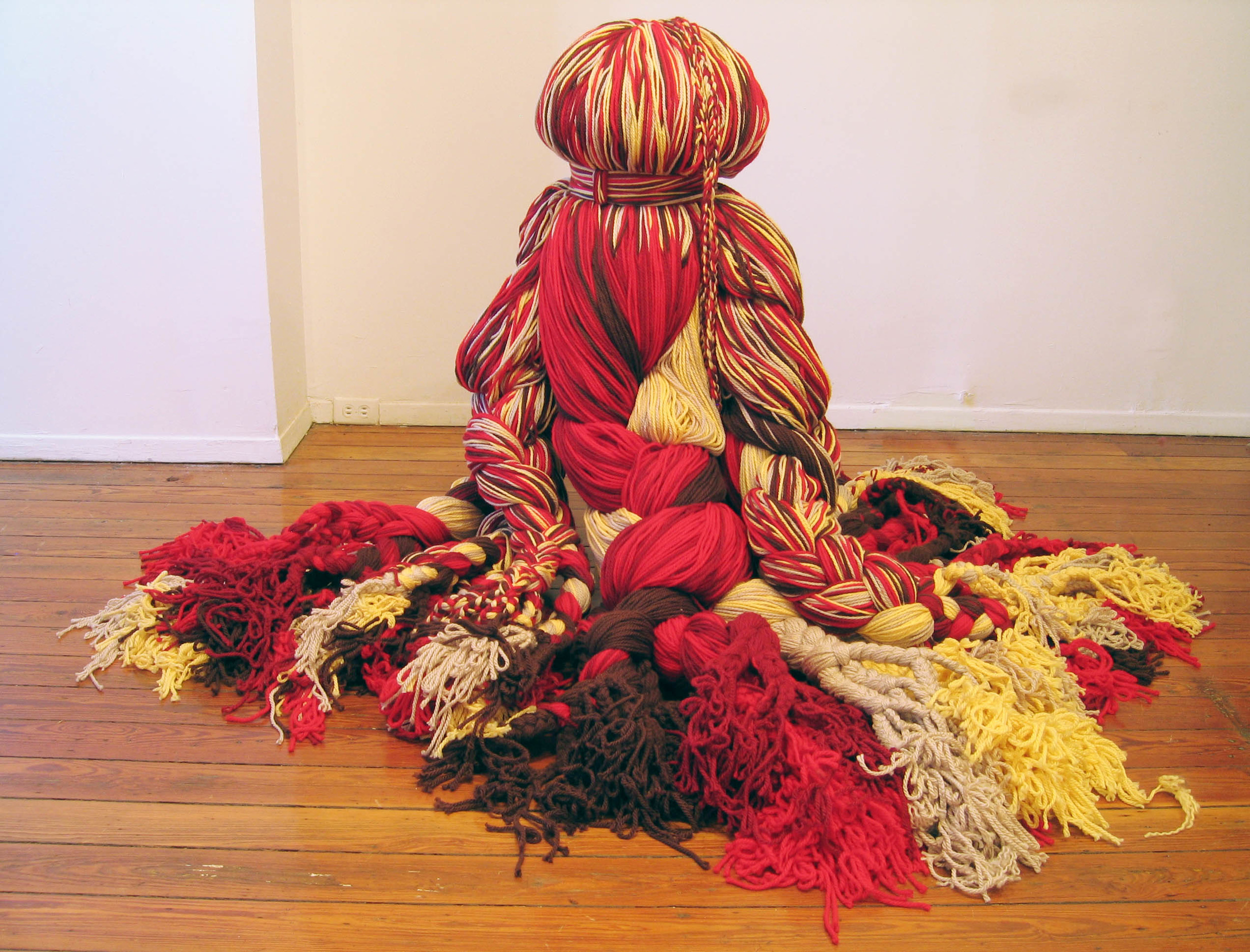 Mandelbroot Sisters, 2006, Acrylic yarn, 5' x 6'