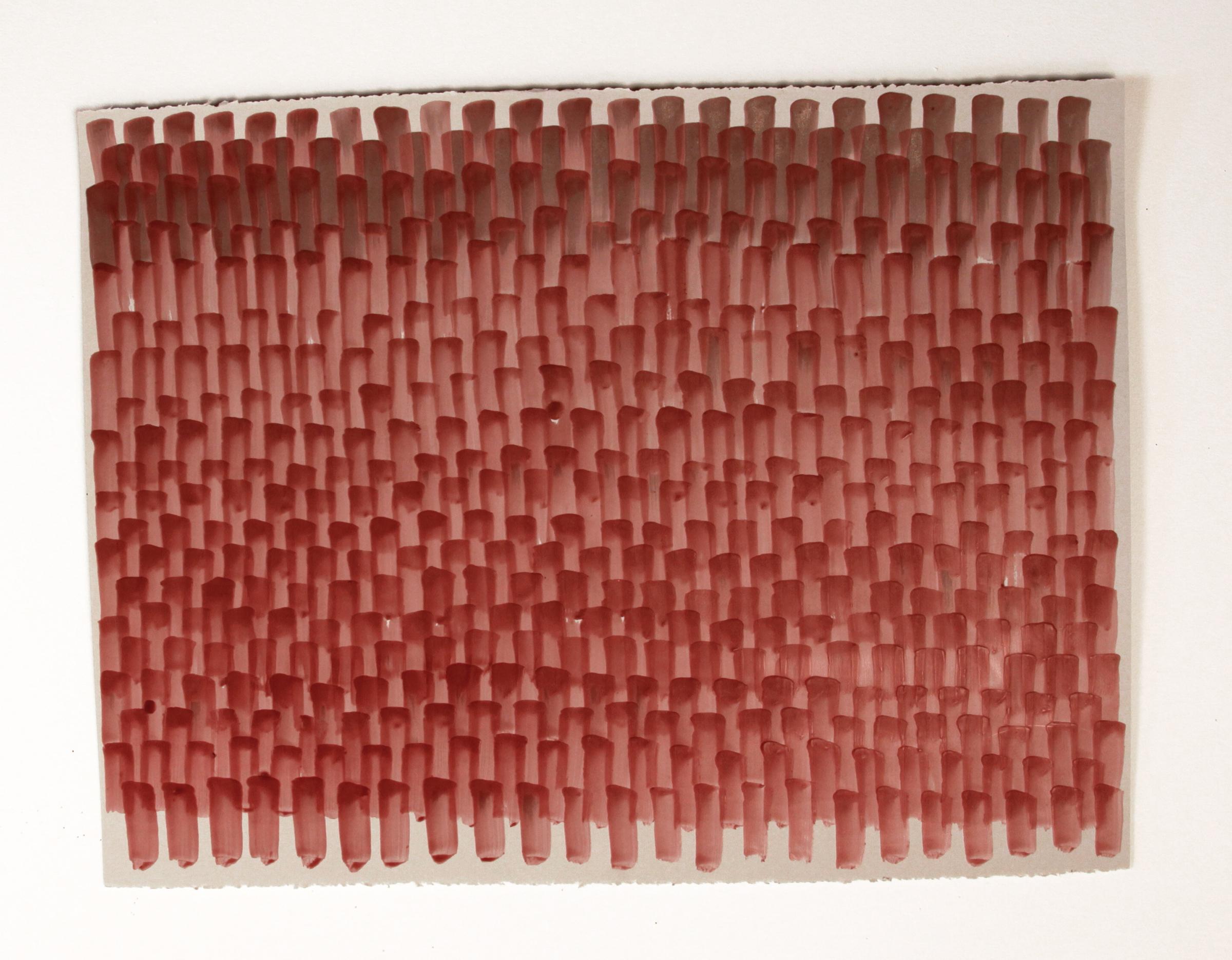 Bricks 2, 2016, Encaustic on acid-free paper, 22-1/2 x 30 inches