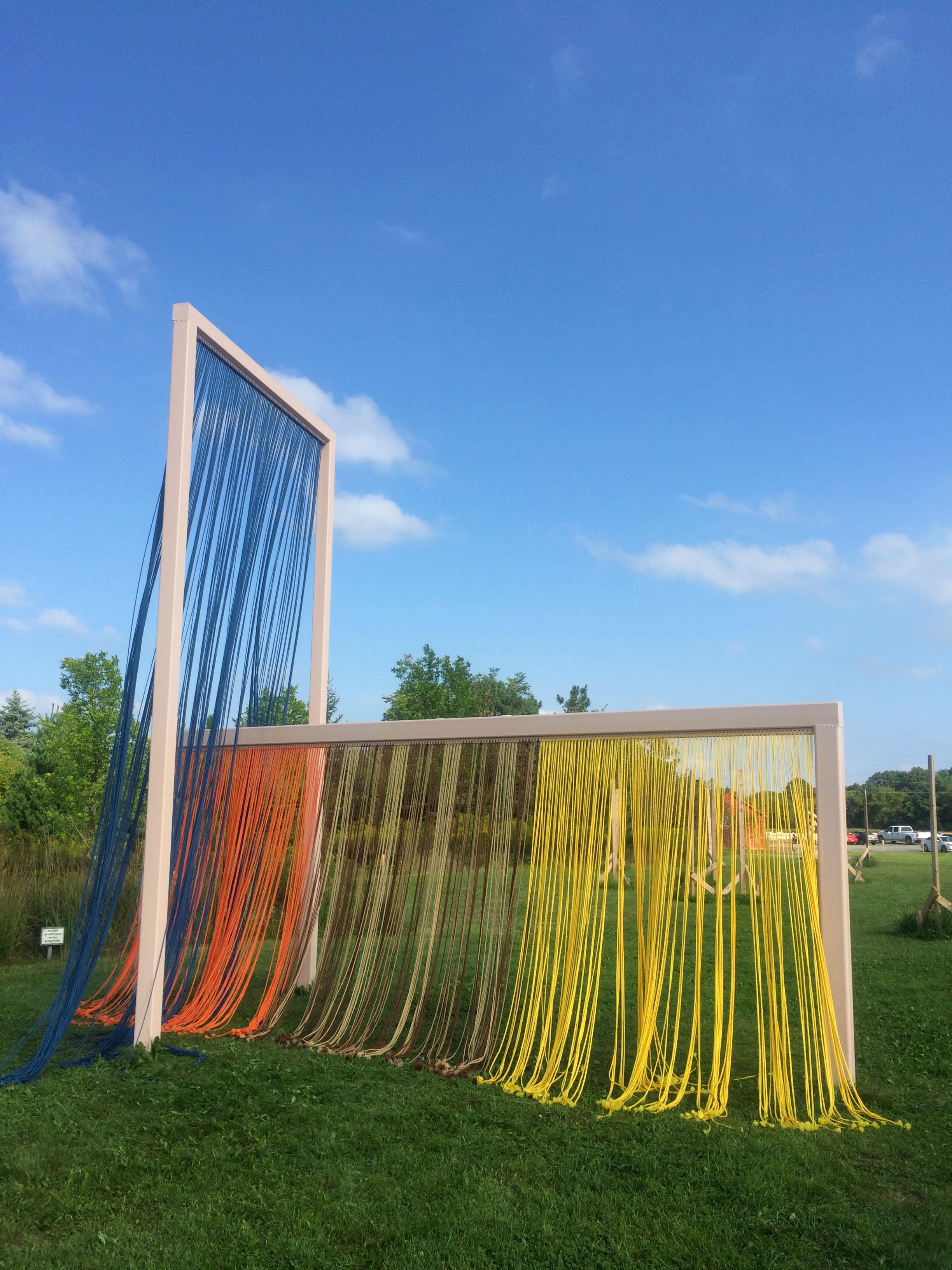 Little Women, 2016, Franconia Sculpture Park, MN, 17 x 9 x 20 feet