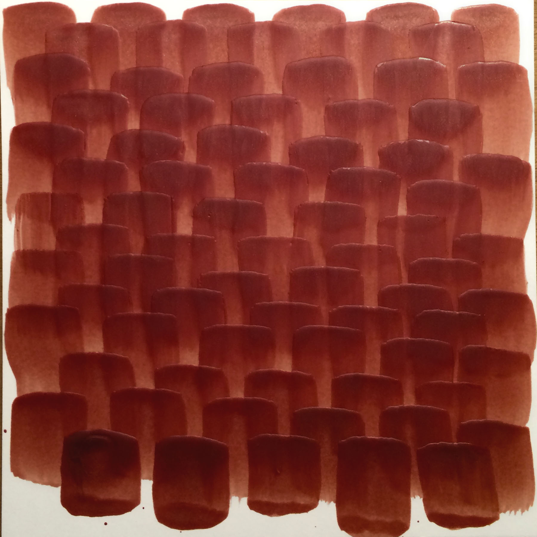 "Tomato Bark, 2016, Encaustic on paper, 6"" x 6"""