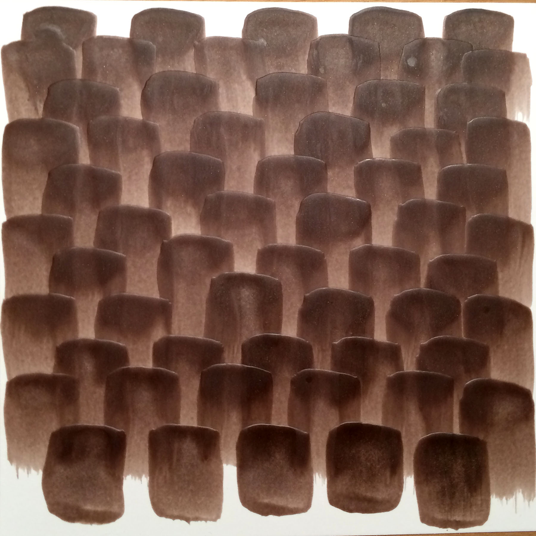 "Walnut Bark, 2016, Encaustic on paper, 6"" x 6"""