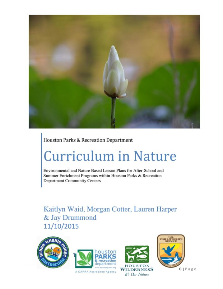 To View the Curriculum In Nature Booklet Click Here