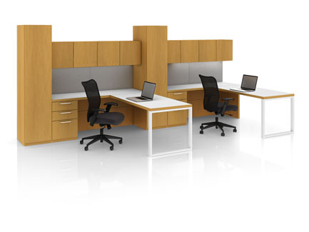 Definition shared office with Designer White open leg