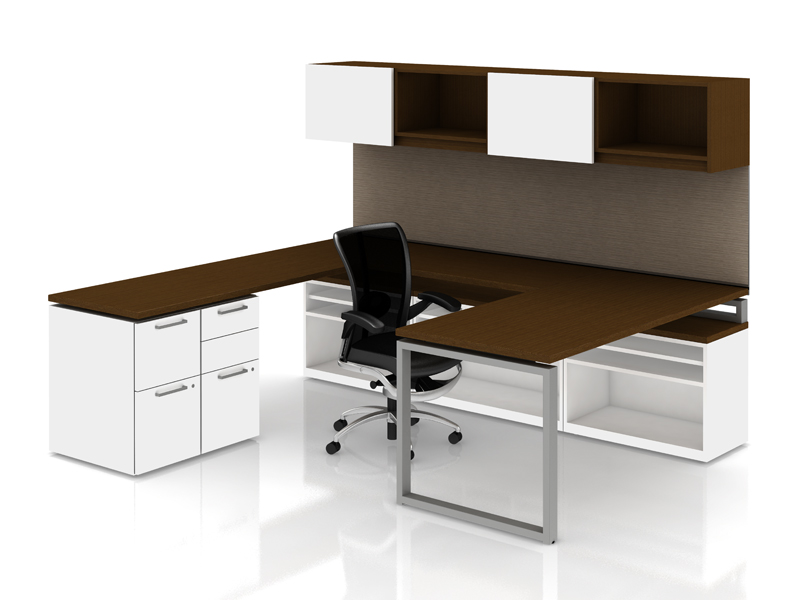 Priority private office with overhead storage and Skye seating