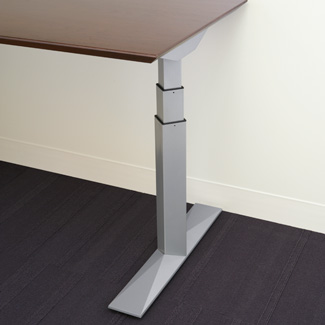 Height Adjustable Electric Dual Stage T Leg Base