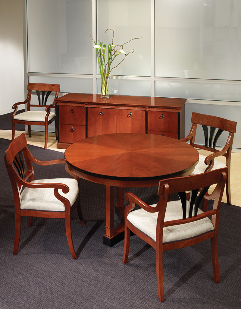 Innsbruck table and storage with Innsbruck and Osterley Park seating