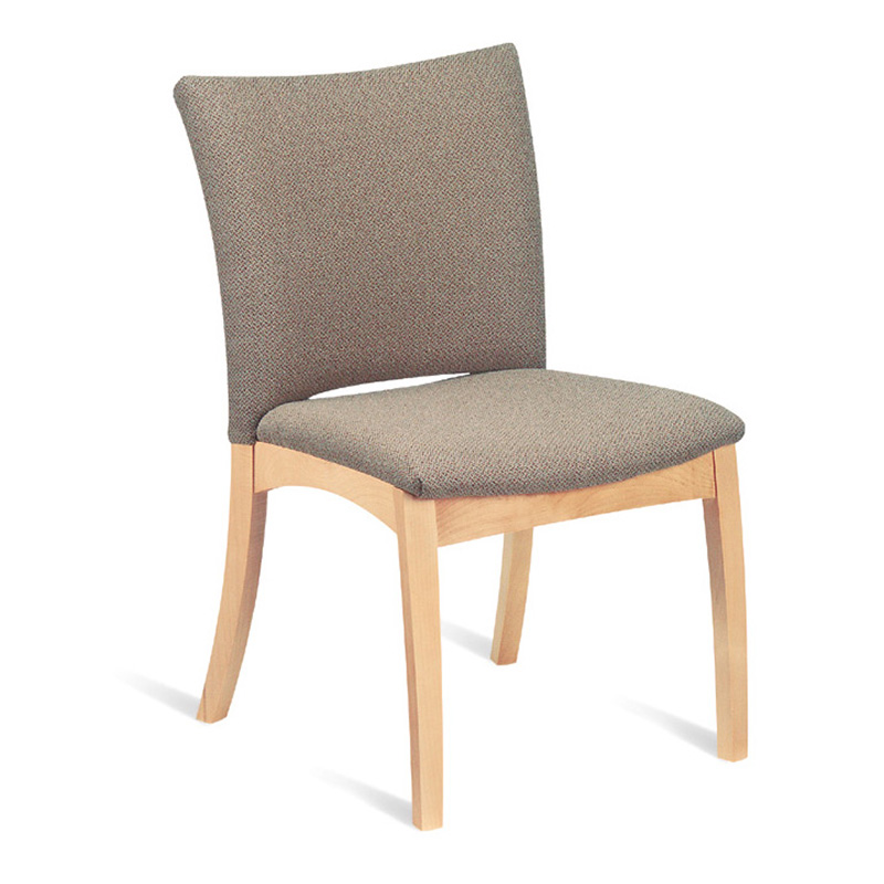 armless with fully upholstered back