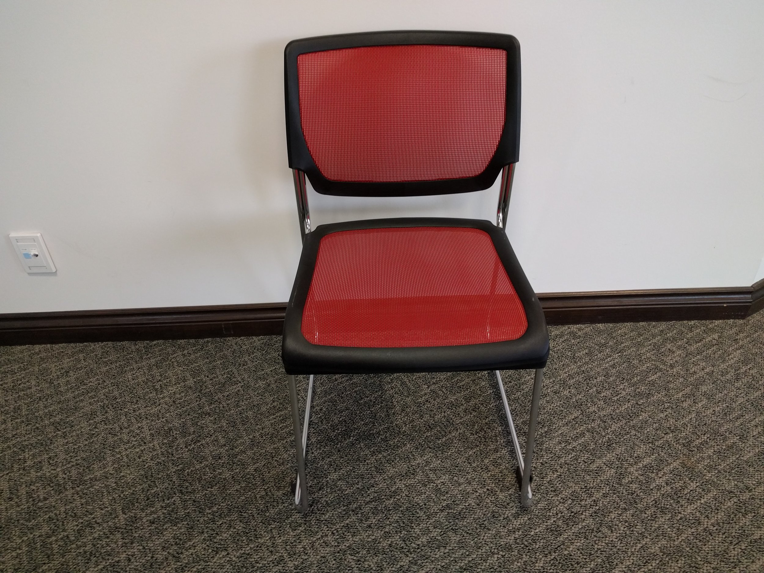 red POLY MESH CHAIR