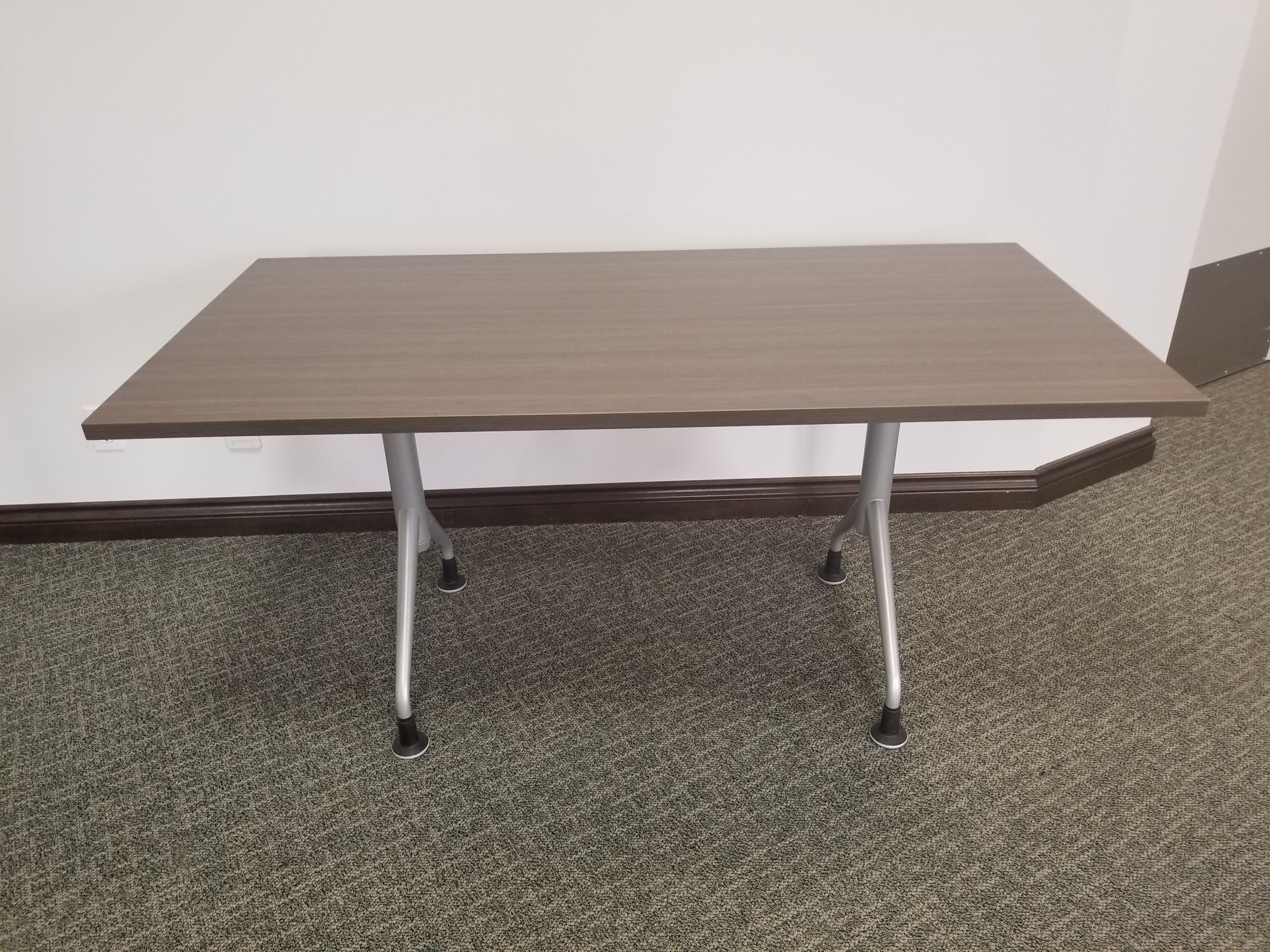 "30"" x 60"" table  - dark brown laminate finish"