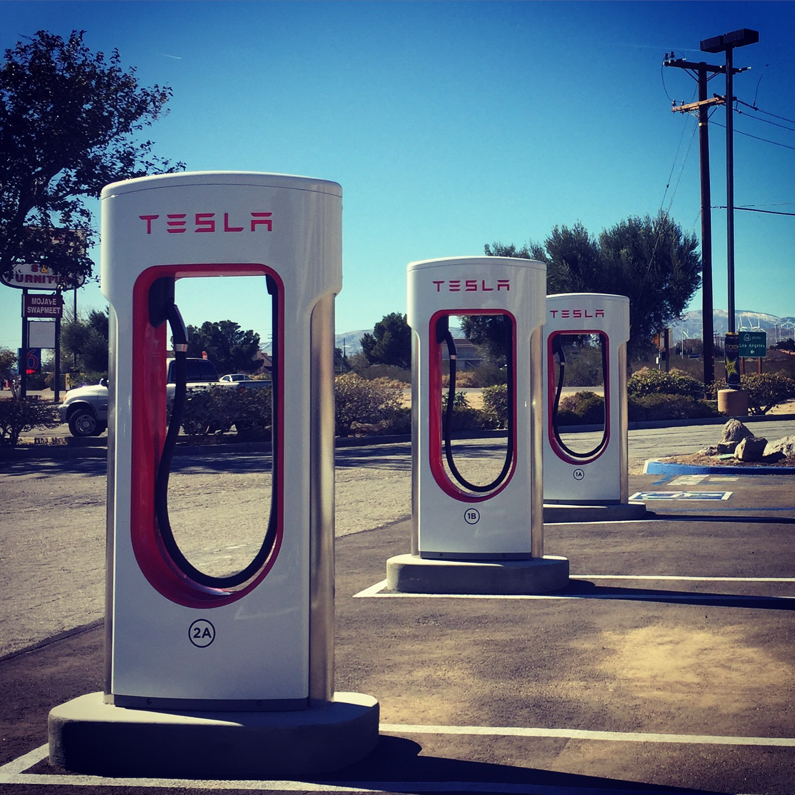 Mojave Supercharger. I heard a sonic boom shortly after taking this shot. Standard out here.