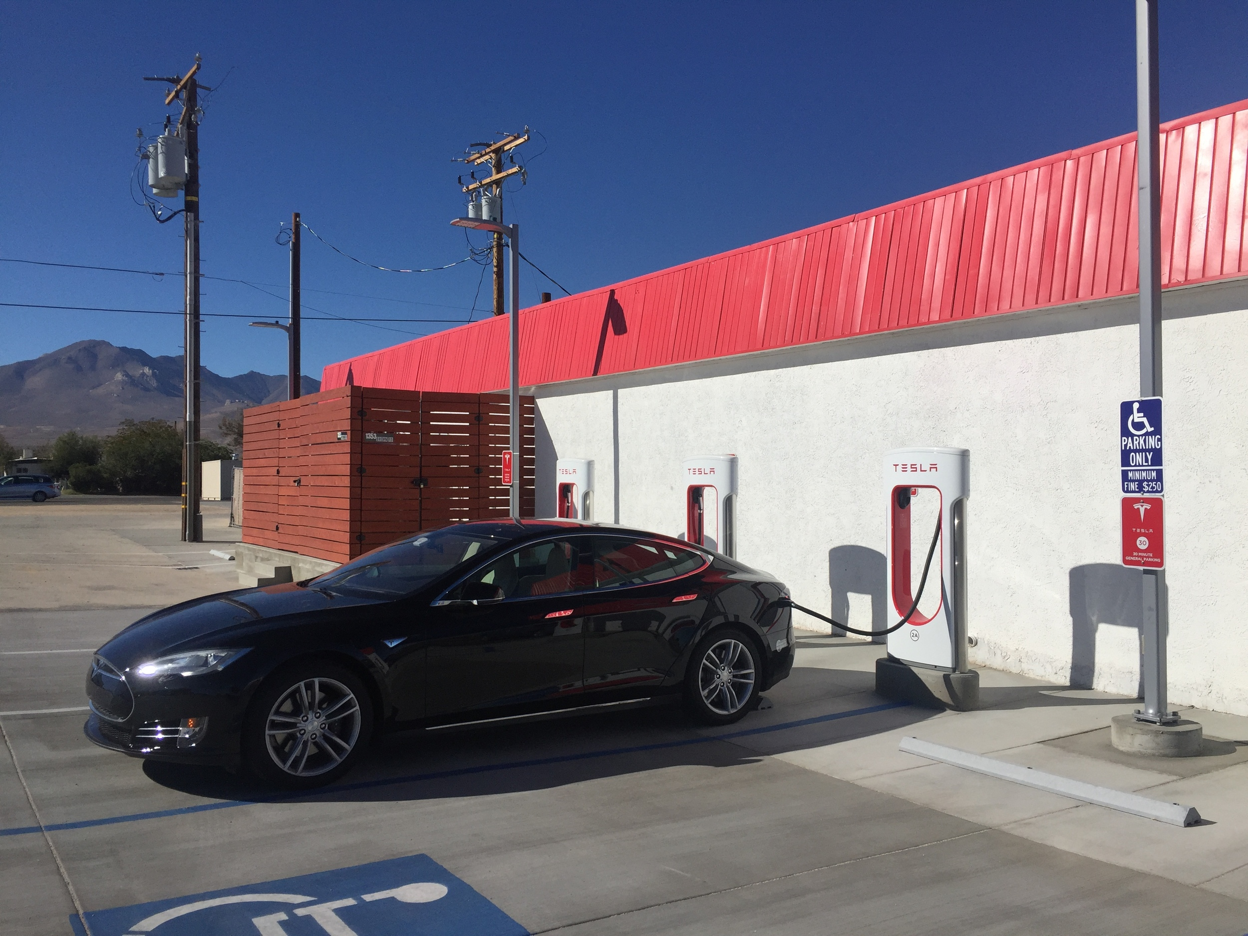 Charging in Inyokern - before a sense of profound doom settled over me.