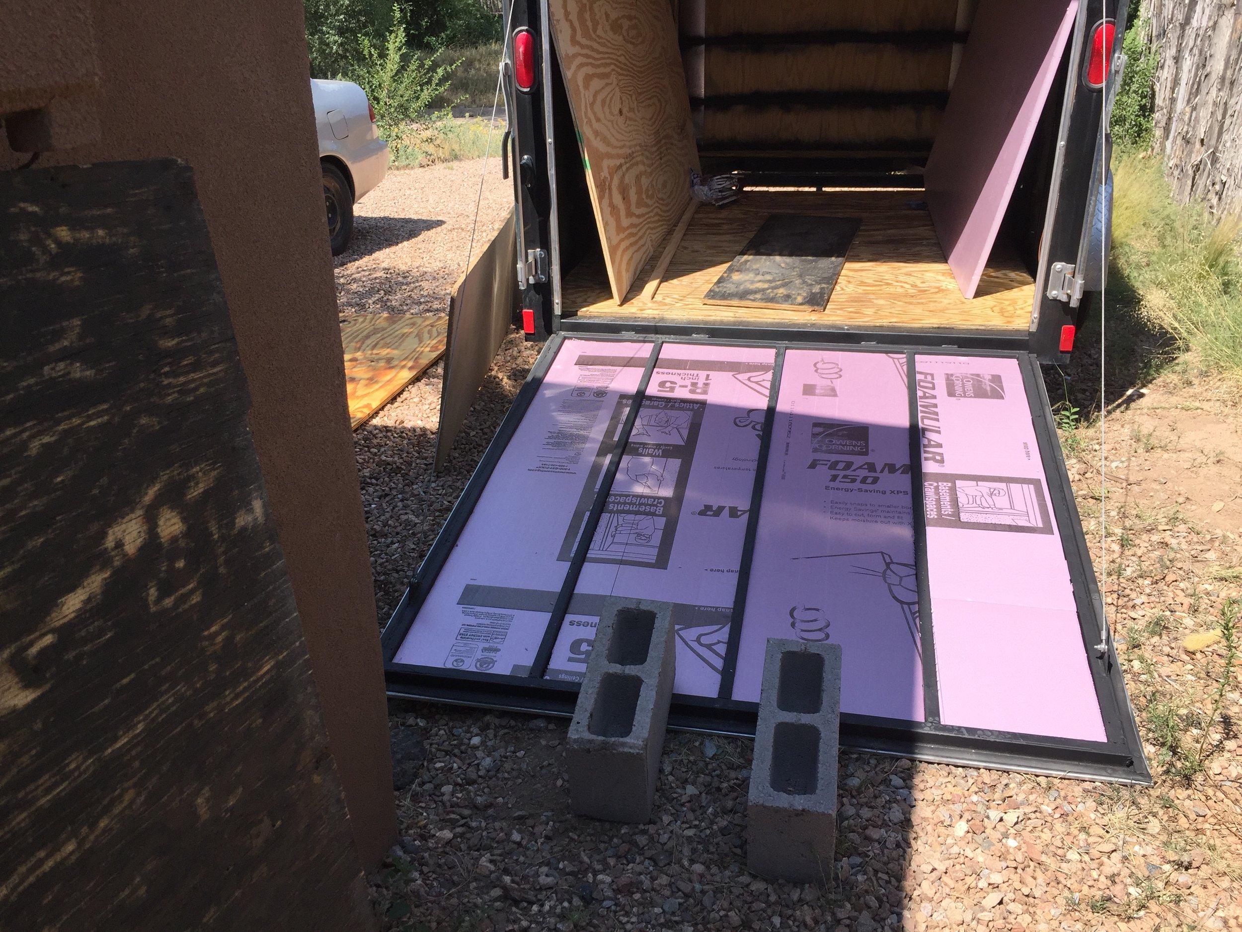 "1"" rigid foam XPS insulation."