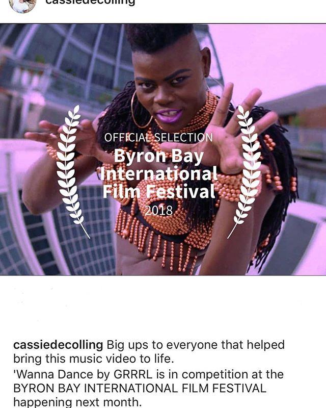Yeyeeeee 😀😀congrats @cassiedecolling 🎥📽🤸🏿♂️🤸🏿♂️😀😀 @byronbayfilmfestival