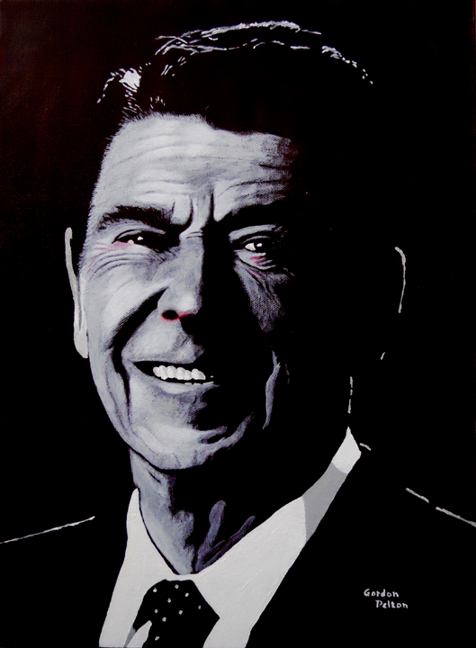 """Ronald Reagan 2   12"""" x 16"""" Gallery-Wrap Acrylic $960  Giclee Copies Available     PLACE ORDER"""
