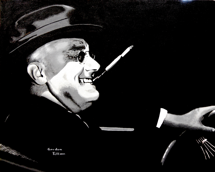 """Pres. Franklin Roosevelt   20"""" x 16"""" Gallery-Wrap Acrylic $1595  Giclee Copies Available     PLACE ORDER"""