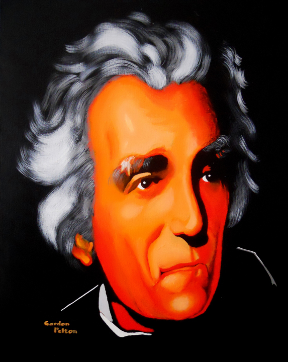 """Andrew Jackson 2   14"""" x 18"""" Giclee-Only Acrylic  Giclee Copies Available     PLACE ORDE"""