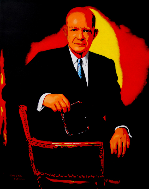"""Dwight Eisenhower   16"""" x 20"""" Gallery-Wrap Acrylic $1595  Giclee Copies Available         PLACE ORDER"""