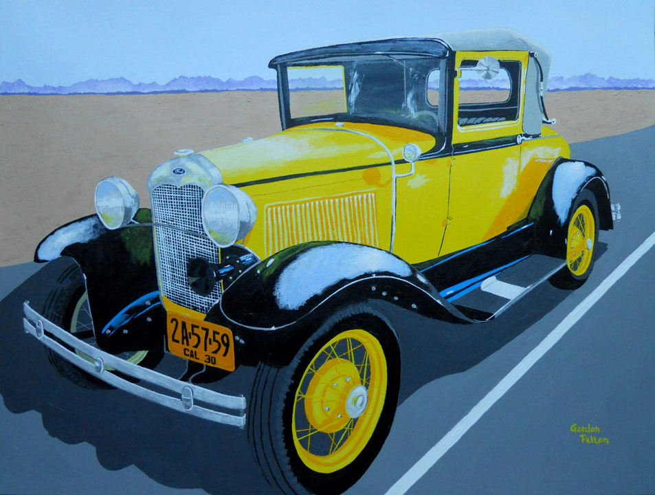 "1930 Ford Model A Roadster   28"" x 22"" Framed Acrylic $1895  Giclee Copies Available     PLACE ORDER"