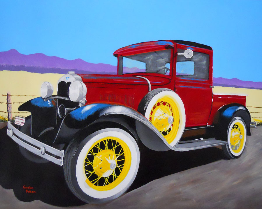 "1930 Ford Model A Pickup Truck   28"" x 22"" Framed Acrylic $1895  Giclee Copies Available     PLACE ORDER"