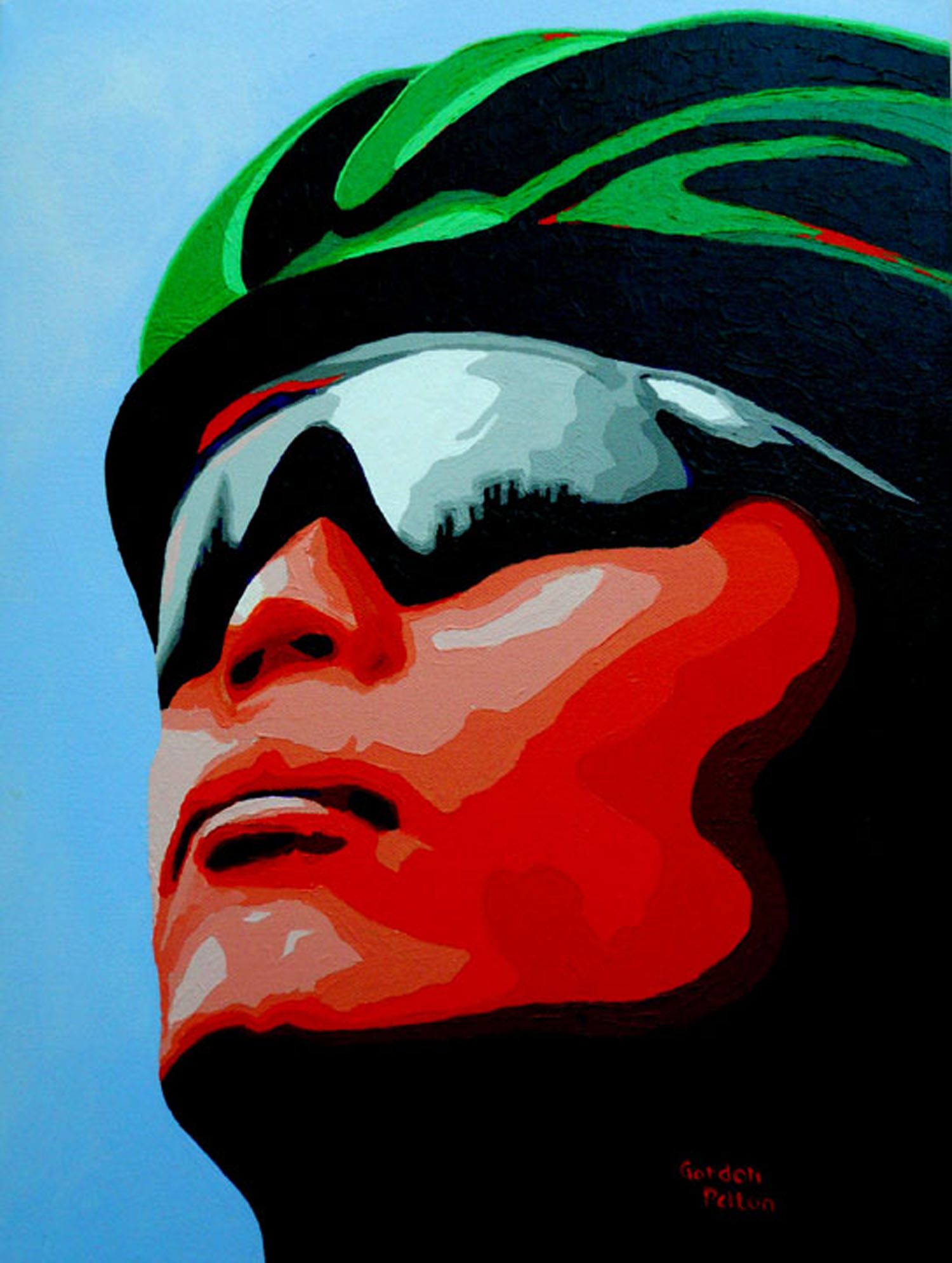 "Biker   12"" x 16"" Gallery-Wrap Acrylic $995  Giclee Copies Available     PLACE ORDER"