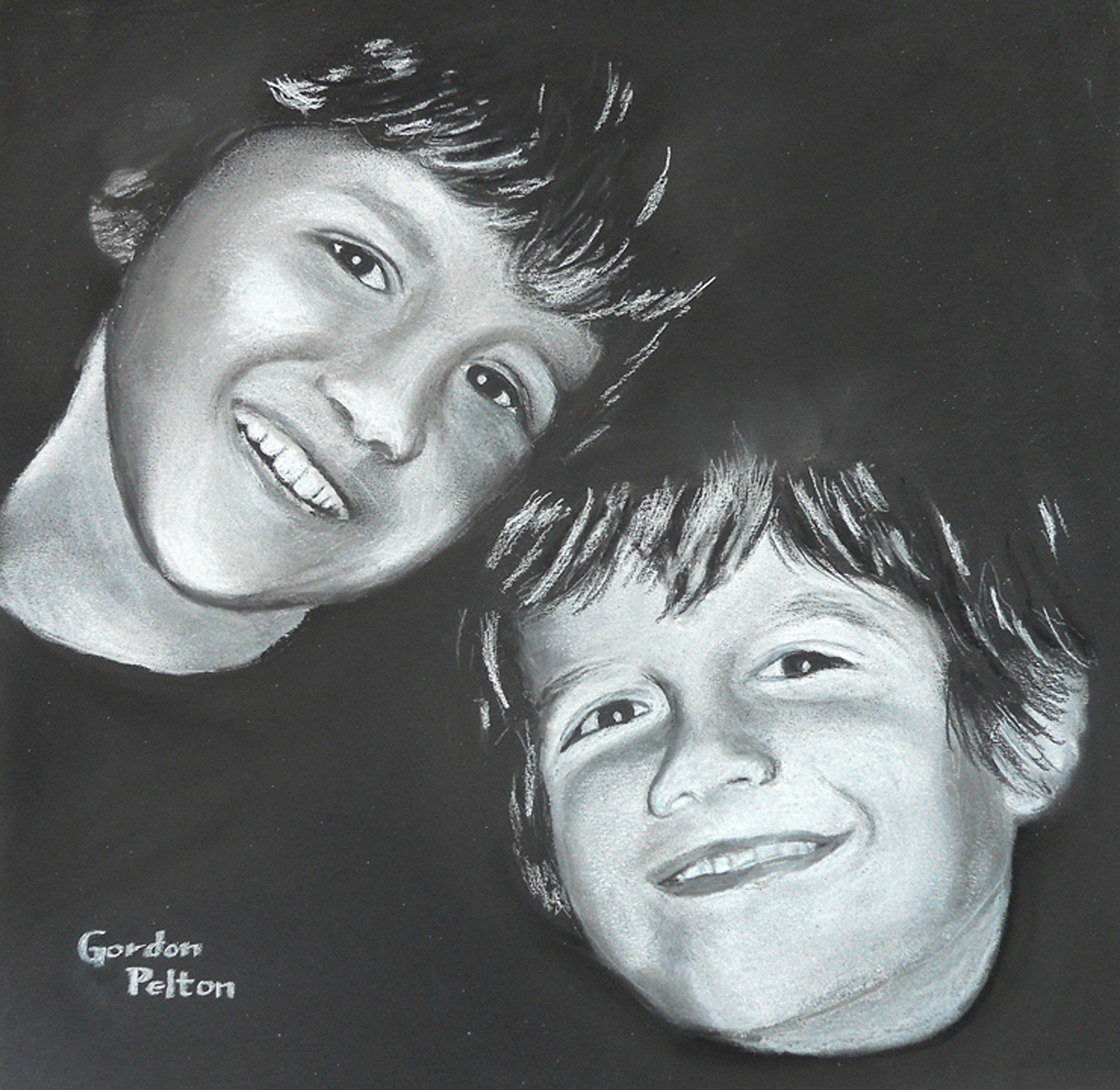 "Kaden and Kailer   24"" x 27"" Framed     Pastel     $1595  Gilclee Copies Available"