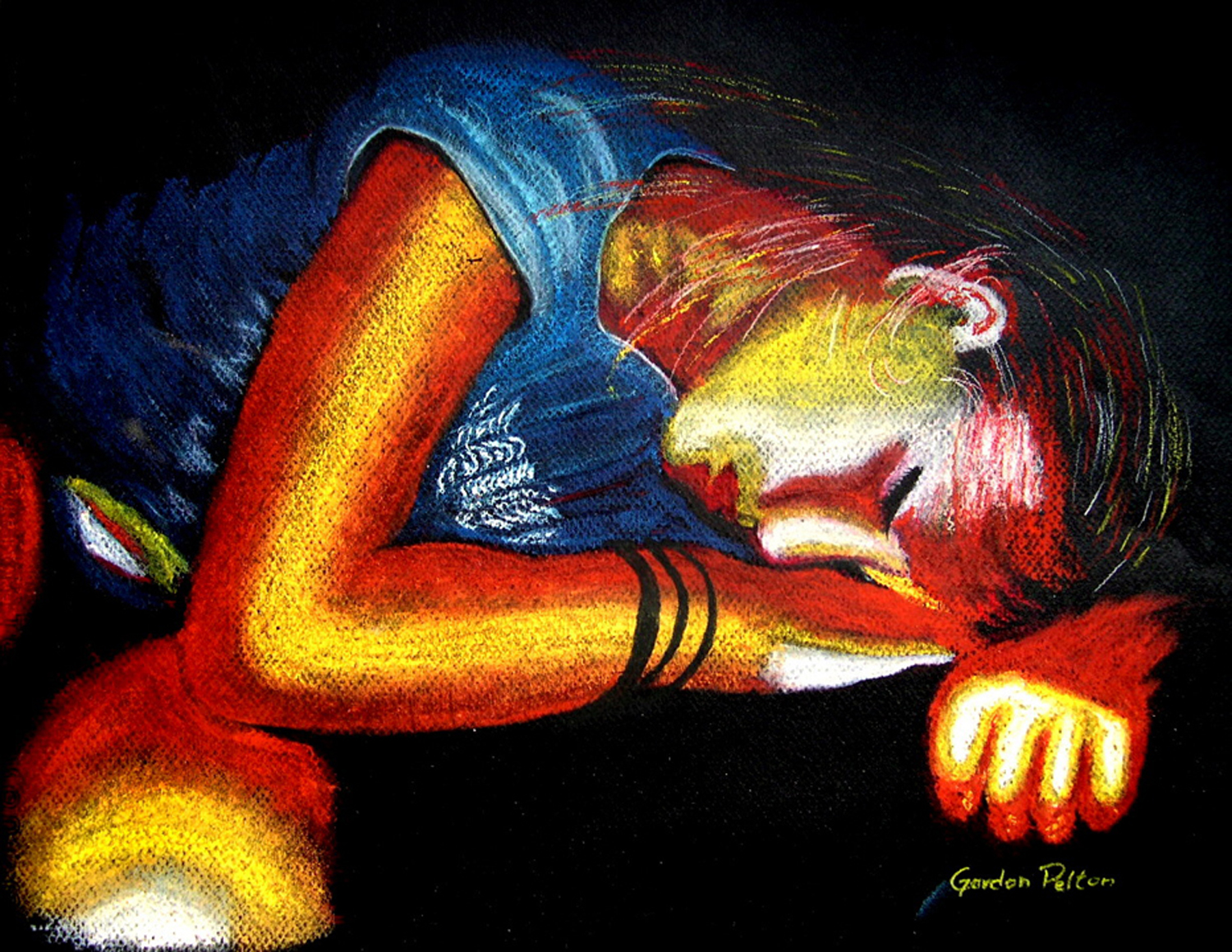 """Kyra   28"""" x 24"""" Framed Pastel   $1895  Gilclee Copies Available"""