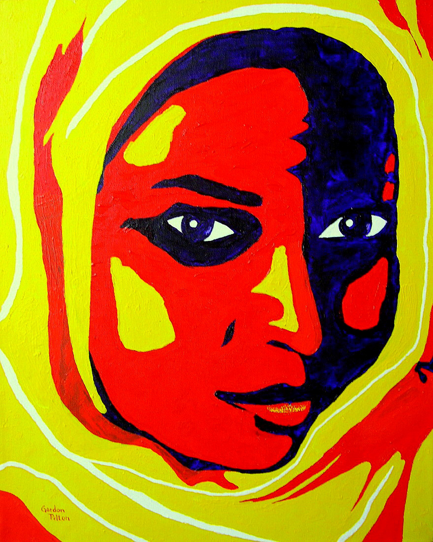 "Woman in Yellow Hijaab   16"" x 20"" Gallery Wrap     Acrylic    $850     Gilclee Copies Available"