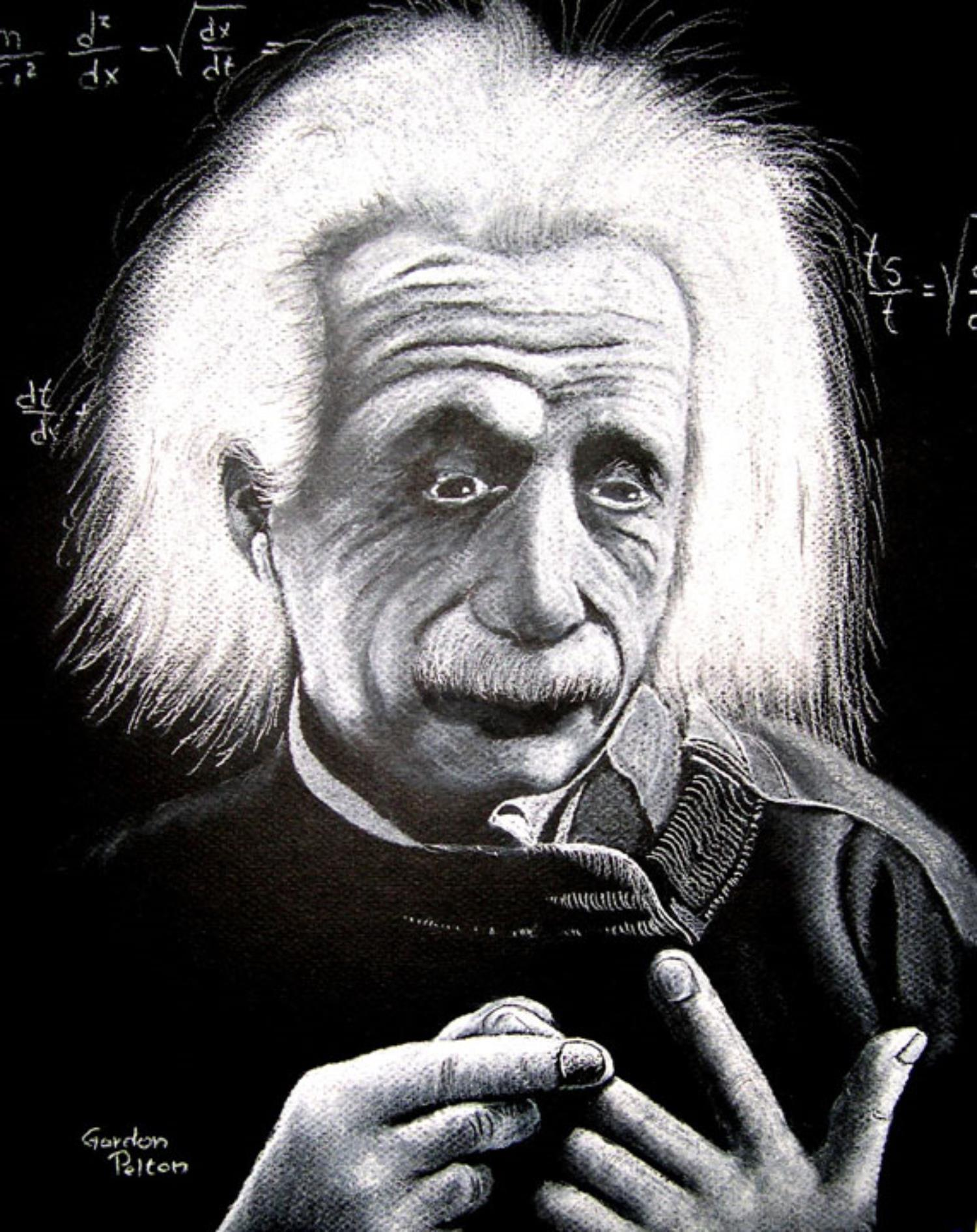 "Albert Einstein 1   12"" x 16"" Unframed Pastel $650  Giclee Copies Available     PLACE ORDER"