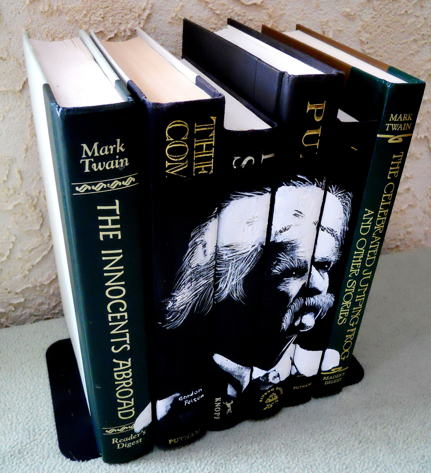 Mark Twain,  Three Views  Acrylic on Book Spines  $795     PLACE ORDER