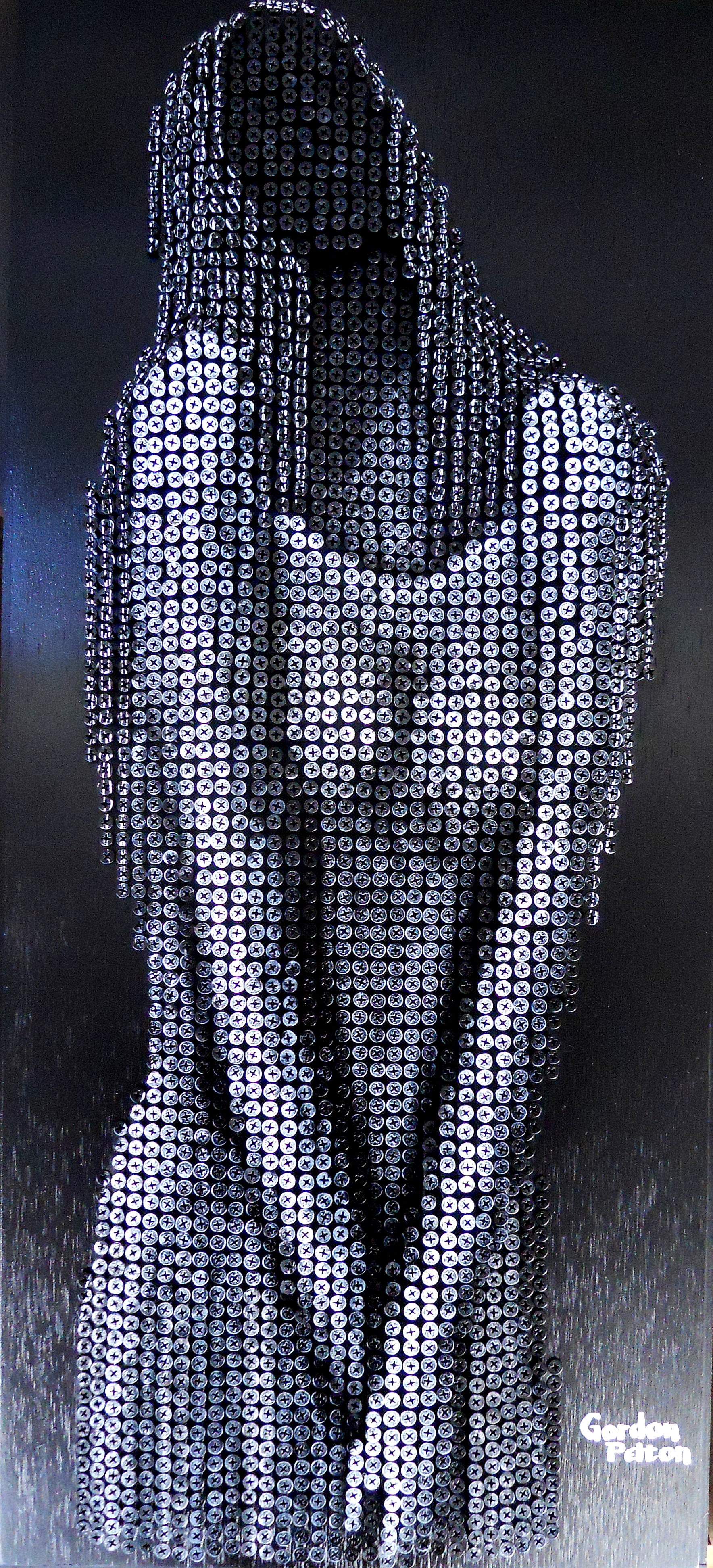 """""""Woman in Gown"""" in Bas Relief   18 x 37.5Screws in Plywood $2990   PLACE ORDER"""