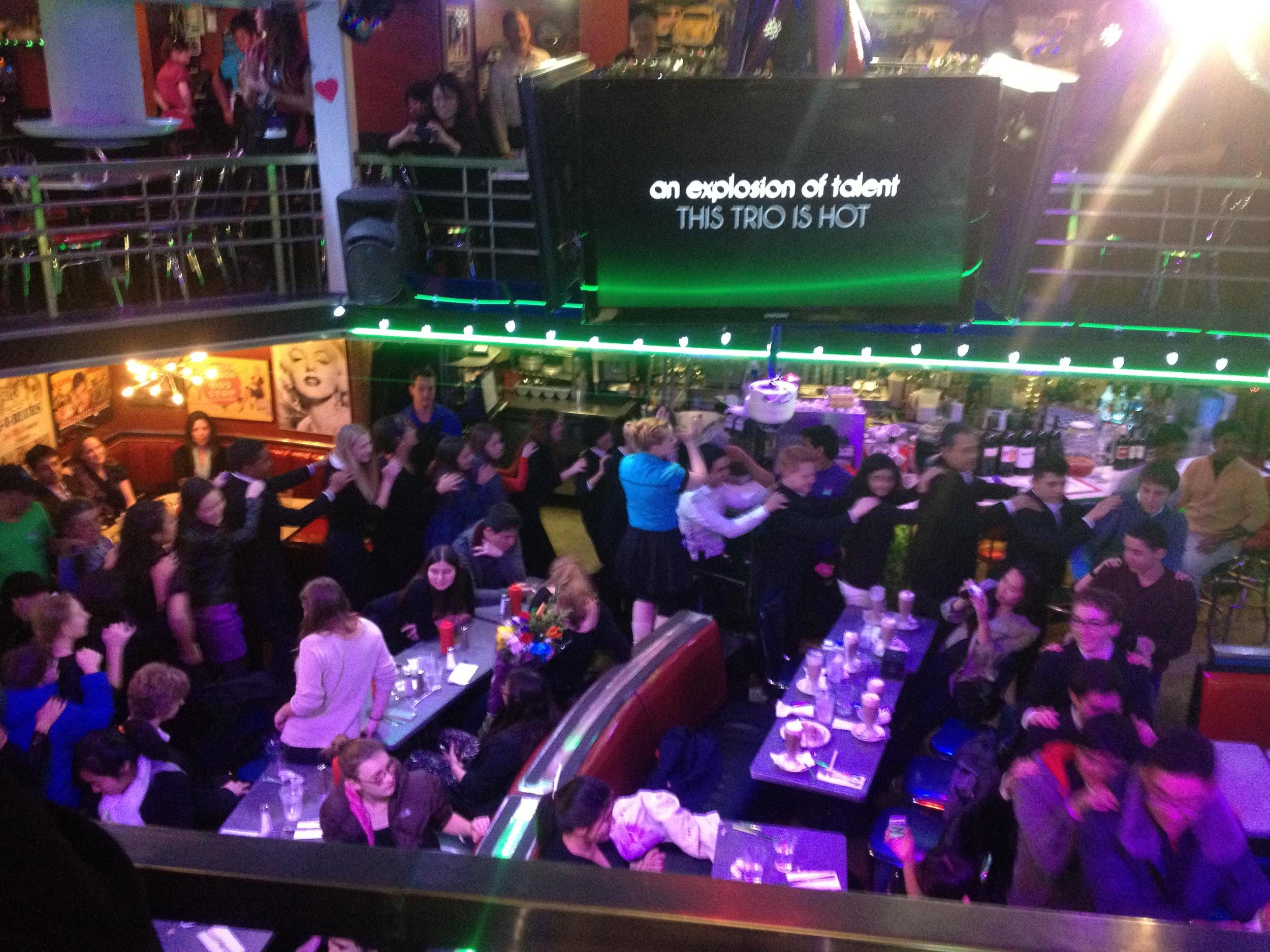 After Party Conga Line at Ellen's Stardust Diner with the entire Los Angeles Youth Orchestra!