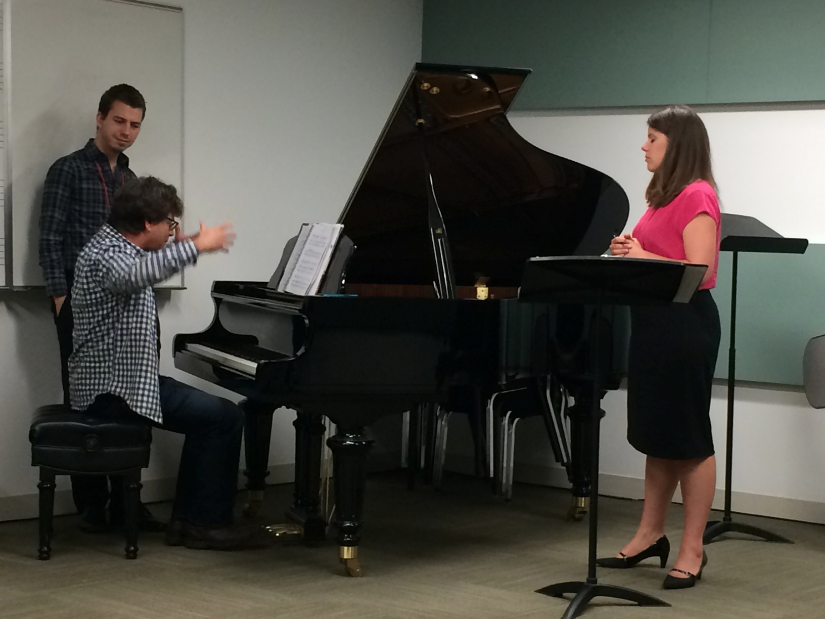 Kristina Bachrach and Michael Stewart rehearsing Lullaby from Brim a Brew