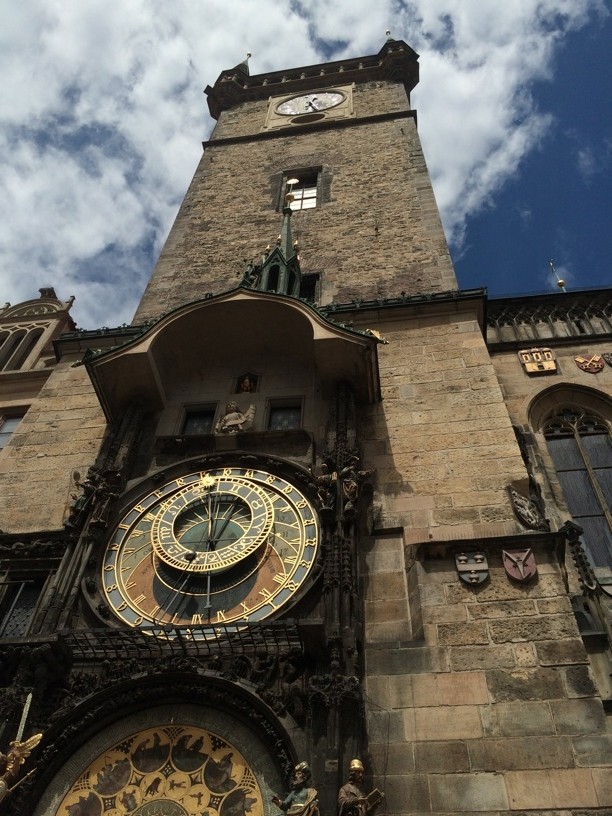 The famous Astronomical Clock in the Prague town square