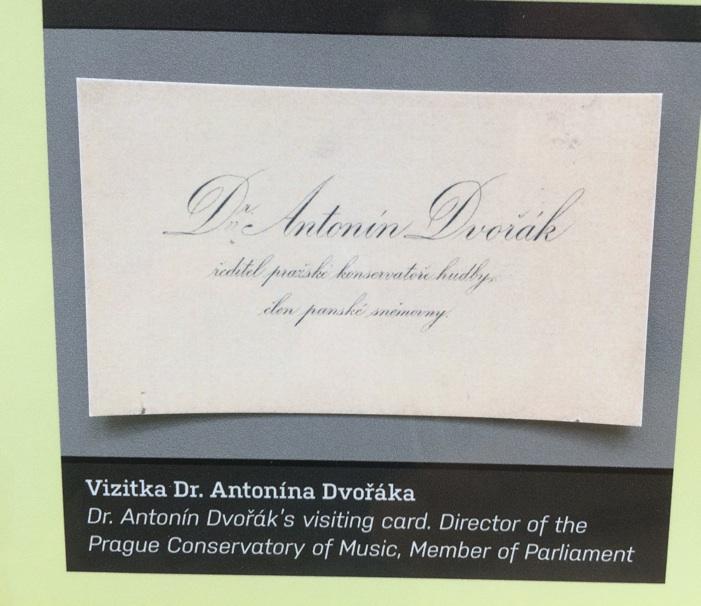 Dvorak's business card!