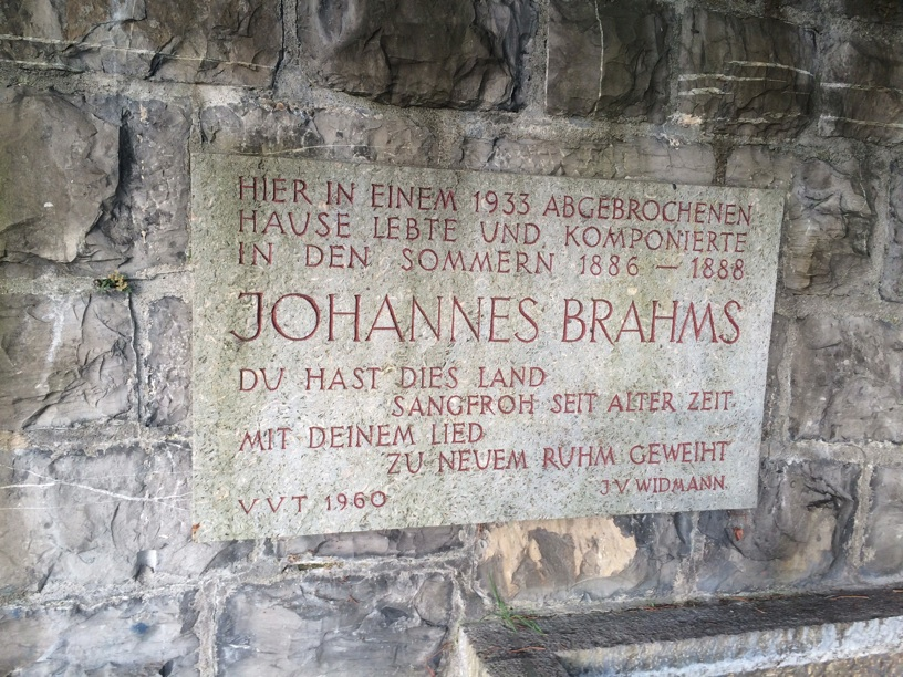 Brahms monument in Thun, Switzerland where he composed the German Requiem