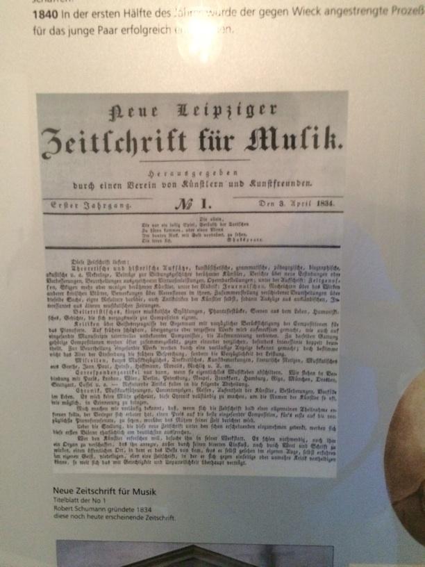 Neue Zeitschrift für Musik, Schumann's famous music periodical